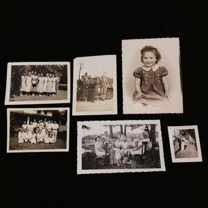 Set of six antique and vintage photographs.